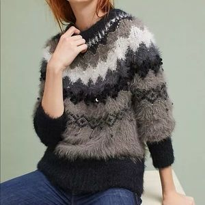 Anthropologie Fair Isle Nordic sweater